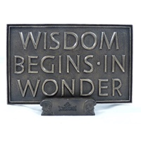 Image for Wild Goose Wisdom Begins in Wonder Plaque