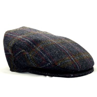 Image for Hanna Country Plaid Tweed Vintage Snap Cap