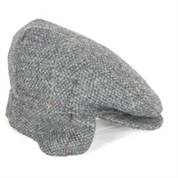 Hanna Grey Tweed Earflap Cap
