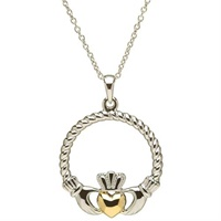 Image for Sterling Silver Claddagh Pendant