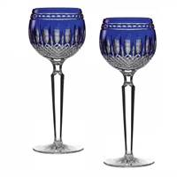 Image for Waterford Crystal Clarendon Cobalt Hock, Set of 2