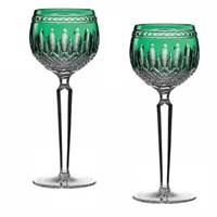 Image for Waterford Crystal Clarendon Emerald Hock, Set of 2