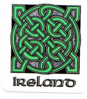 Image for Celtic Knot Ireland Square Decal