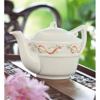 Image for Belleek China Tall Celtic Teapot 5""