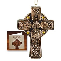 Image for Resin St. Patrick Cross Ornament