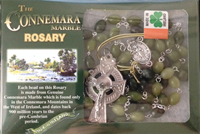 Image for Connemara Marble Irish Rosary - Seed Shaped Beads