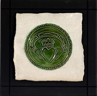 Image for Parchment Claddagh Tile, Small