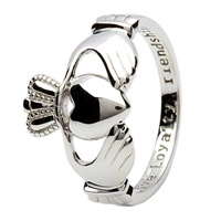 Image for Sterling Silver Ladies Claddagh Ring