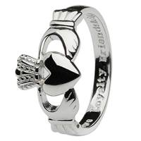 Image for Sterling Silver Gents Claddagh Ring