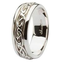 Image for Sterling Silver Gents Celtic Knot Wedding Band