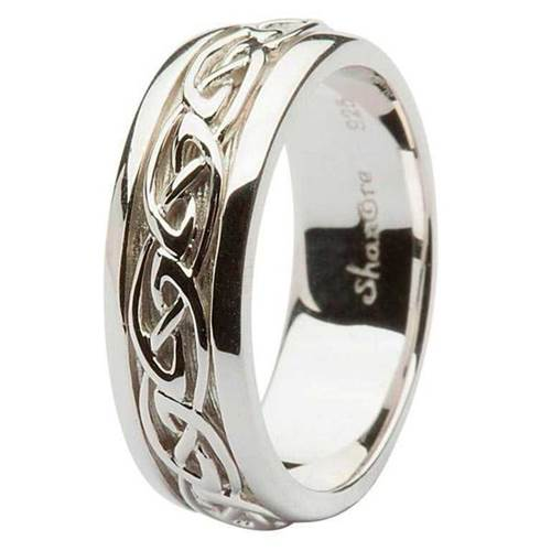 Celtic Knot Wedding Bands.Sterling Silver Gents Celtic Knot Wedding Band Tipperary Irish