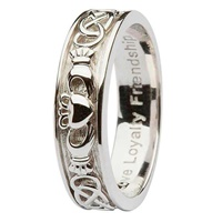 Image for Ladies Sterling Silver Claddagh Celtic  Band