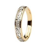 Image for 14K Yellow Gold Celtic Trinity Knot Wedding Ring