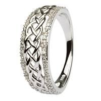 Image for 14K White Gold Ladies Celtic Knot Diamond Ring