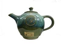 Image for Colm De Ris Irish Pottery Breakfast Tea Pot, Green