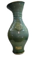 Image for Colm De Ris Irish Pottery Vase, Large Green