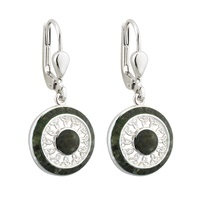 Image for Sterling Silver Connemara Marble Round Trinity Drop Earrings