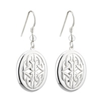 Image for Sterling Silver Oval Trinity Knot Earrings