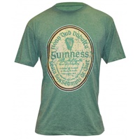 Image for Guinness Green Distressed Gaelic Label Tee