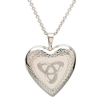 Image for Sterling Silver Heart Locket with Trinity Knot