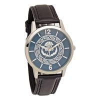 Image for ScottishThistle Leather Band Watch