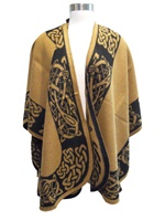 Image for Jimmy Hourihan Celtic Motif Shawl, Camel/Black