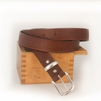 Lee River Leather Owen Belt, Brown
