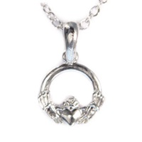 Image for Trinity Co Trinity Small Claddagh Earrings