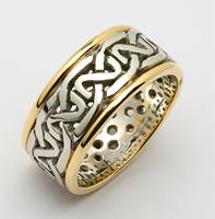Image for Mens Two-Toned Sheelin Heavy Pierced Celtic Wedding Ring