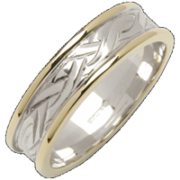 Image for Mens 18K Two-Toned Gold Livia Flat Narrow Wedding Band