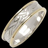 Image for Ladies 18K Two-Toned Gold Livia Flat Narrow Wedding Band