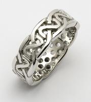 Image for Ladies 10K White Gold Sheelin Medium Pierced Celtic Wedding Band