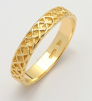Image for Ladies 14 Yellow Gold Sheelin Narrow Celtic Wedding Band