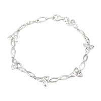 Image for Sterling Silver Trinity Infinity Knot Bracelet
