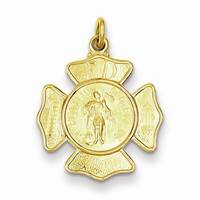Image for 24K Gold Plated St. Florian Fireman Medal