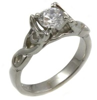 Image for 14k White Gold Diamond Celtic Diamond Ring - Setting Only