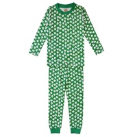 Image for White Kids Shamrock Pajama Set