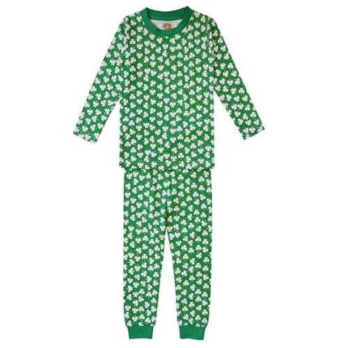 da513f945a28 White Kids Shamrock Pajama Set - Tipperary Irish Importer