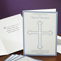 Image for Embossed Special Grandson Baptismal Card