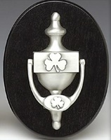 Image for Mullingar Pewter Shamrock Door Knocker