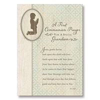 Image for First Communion Prayer Grandson Card