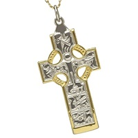 Image for Sterling Silver and Yellow Gold Duleek High Cross