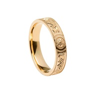 Image for Celtic Warrior Shield 14K  Gold Comfort Fit 4.5mm Band
