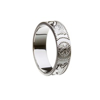 Image for Celtic Warrior Shield Sterling Silver 6mm Band