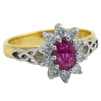 Image for Trinity Knot Ruby and Diamond Ring