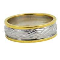 Image for Ladies 18K Two-Toned Livia Celtic Band