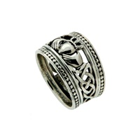 Image for Keith Jack Sterling Silver Shield Claddagh Ring