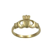 Image for Ladies 10K Yellow Gold Claddagh Ring