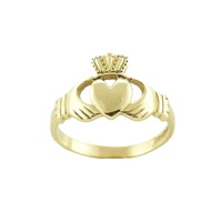 Image for Mens 10K Yellow Gold Claddagh Ring