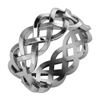 Image for Palladium Celtic Knot Eternity Ring